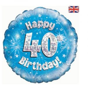 18 inch Happy Birthday Age 1-90 Balloon - Blue