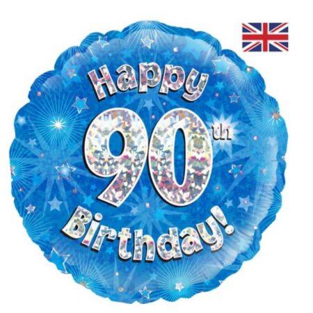 18 inch Happy Birthday Age 1-90 Balloon - Blue