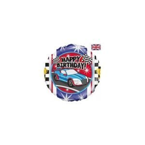 18 inch Happy Birthday Balloon - Sports Car