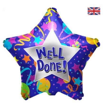 19 inch Congratulations - Well Done Purple Star Balloon