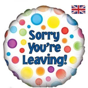 18 inch Sorry You're Leaving - Spots Balloon