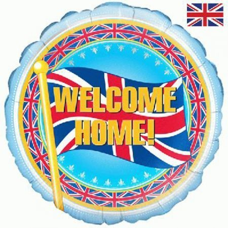 Welcome Home helium balloon