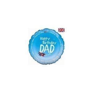 18 inch Balloon Happy Birthday Dad Aeroplane