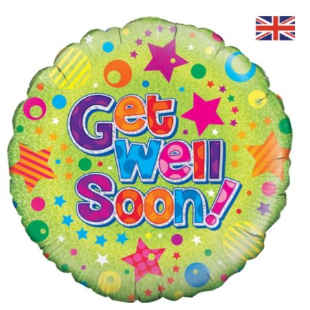 18 inch Get Well Soon - Stars and Spots Balloon