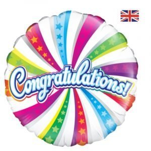Congratulations helium balloon