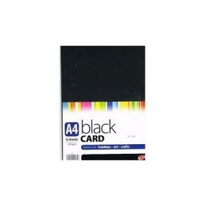 A4 Black Card - 6 Sheets
