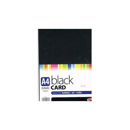 A4 Black Card - 6 Sheets