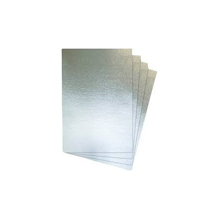 A4 Silver Card - 4 Sheets