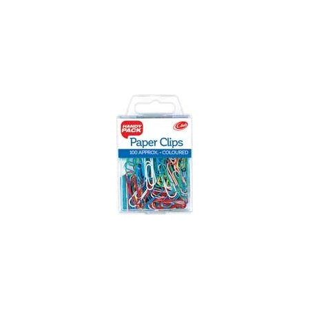 Coloured Paper Clips x 100 approx