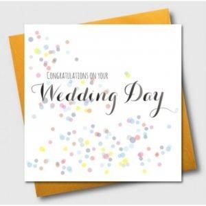 Congratulations On Your Wedding Day Confetti Card