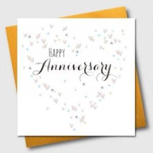 Happy Anniversary Hearts and Stars Card