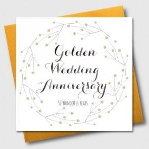Golden Wedding Anniversary 50 Wonderful Years Card
