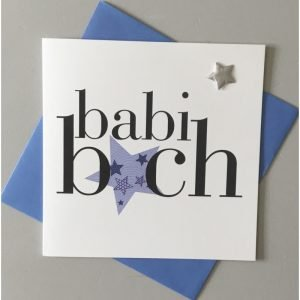 Babi Bach Blue Star Card