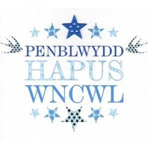 Penblwydd Hapus Wncwl Blue Stars Card