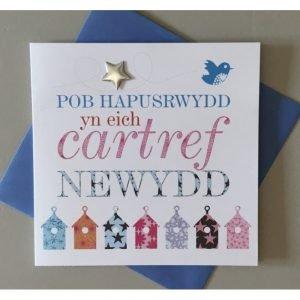 Pob Hapusrwydd Yn Eich Cartref Newydd Card