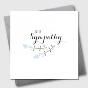 With Sympathy Simple Flowers Card