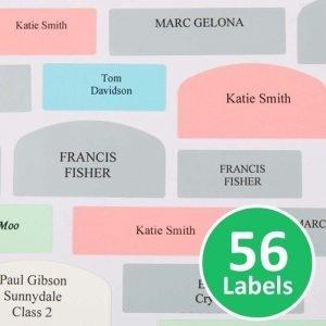 Peel & Stick Name Labels