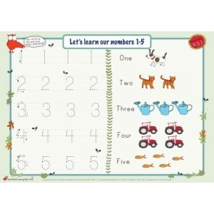 Educational Learning Mat A5 Numbers 1-10