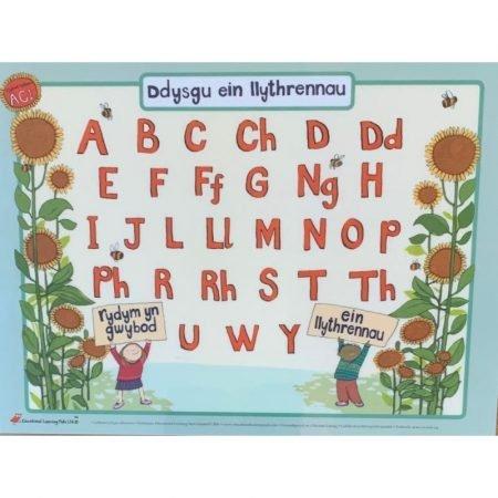 Welsh Educational Learning Mat A4 Upper Case