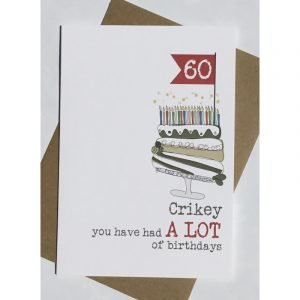60 Crikey You Have Had A Lot Of Birthdays Card