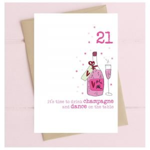 21 It's Time To Drink Champagne Card