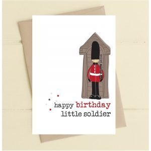 Happy Birthday Little Soldier Card
