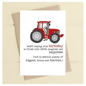 Plenty Of Tractors Birthday Card