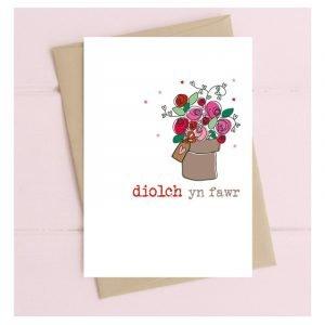Diolch Yn Fawr Roses Card