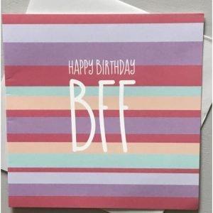 Happy Birthday BFF Stripes Card
