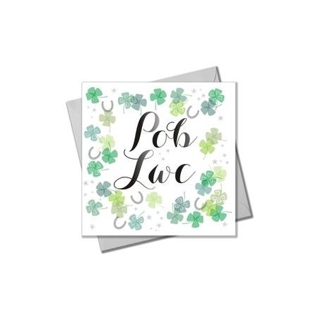 Pob Lwc Four Leaf Clover Card
