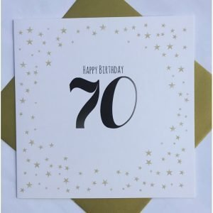 Happy Birthday 70 Gold Stars Card
