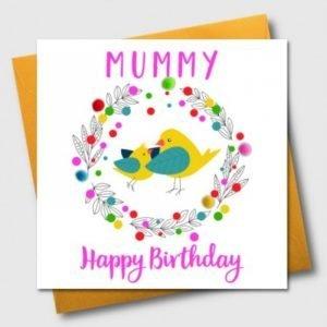 Mummy Happy Birthday Pom Pom Card