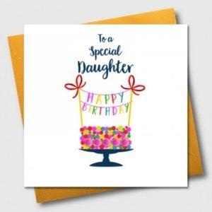 To A Special Daughter Happy Birthday Pom Pom Card