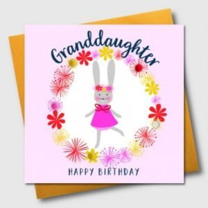 Granddaughter Happy Birthday Pom Pom Card