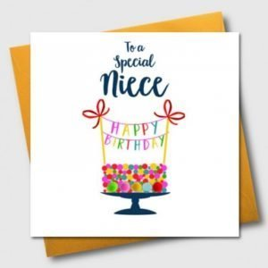 To A Special Niece Happy Birthday Pom Pom Card