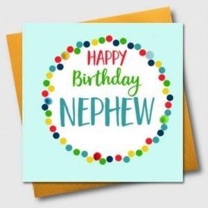 Happy Birthday Nephew Pom Pom Card