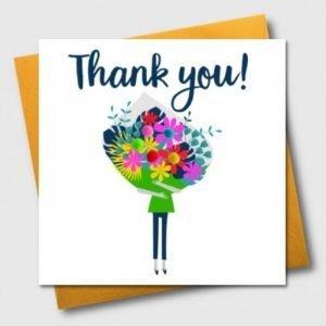 Thank You Pom Pom Bouquet Card