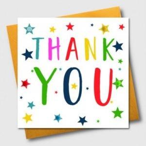 Thank You Pom Pom Stars Card
