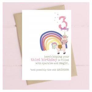 3 Today Unicorn Card