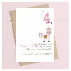 4 Today Unicorn Card