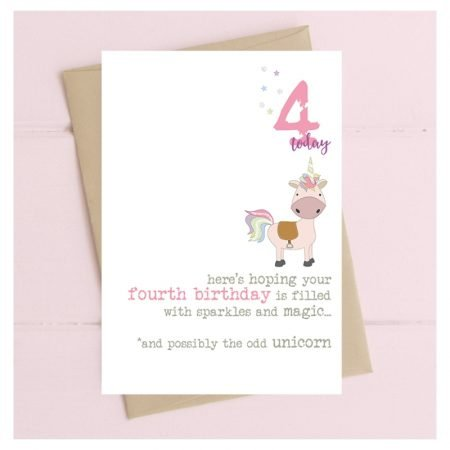 4 Today Unicorn Card