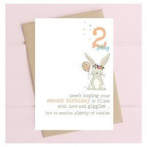 2 Today Love & Giggles Bunny Rabbit Card