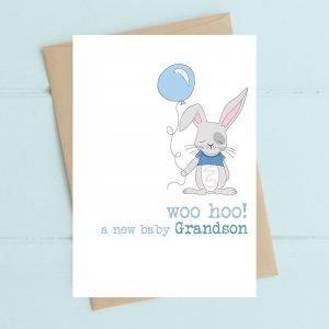 Woo Hoo A New Baby Grandson Card