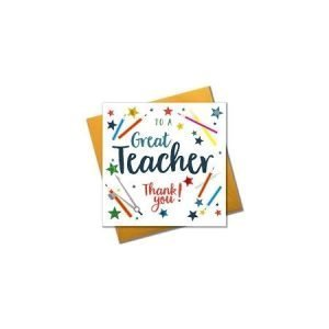 To A Great Teacher Card