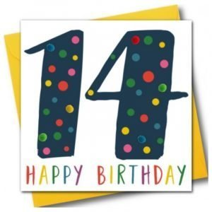 14 Happy Birthday Navy Pom Pom Card
