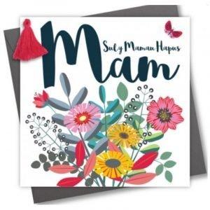 Sul Y Mamau Hapus Mam Flowers and Tassle Card