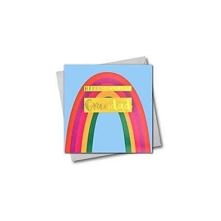Happy Birthday Grandad Rainbow Card