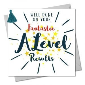 Well Done On Your Fantastic A Level Results Yellow Stars Card