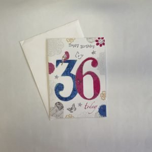 Happy Birthday 36 Today Age Card