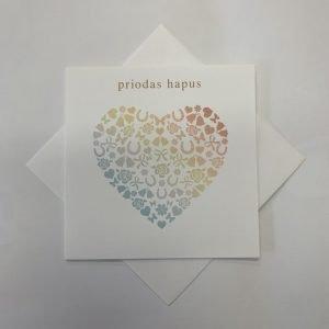 Priodas Hapus Rainbow Heart Card